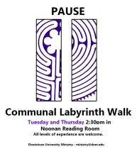 communal labyrinth walk